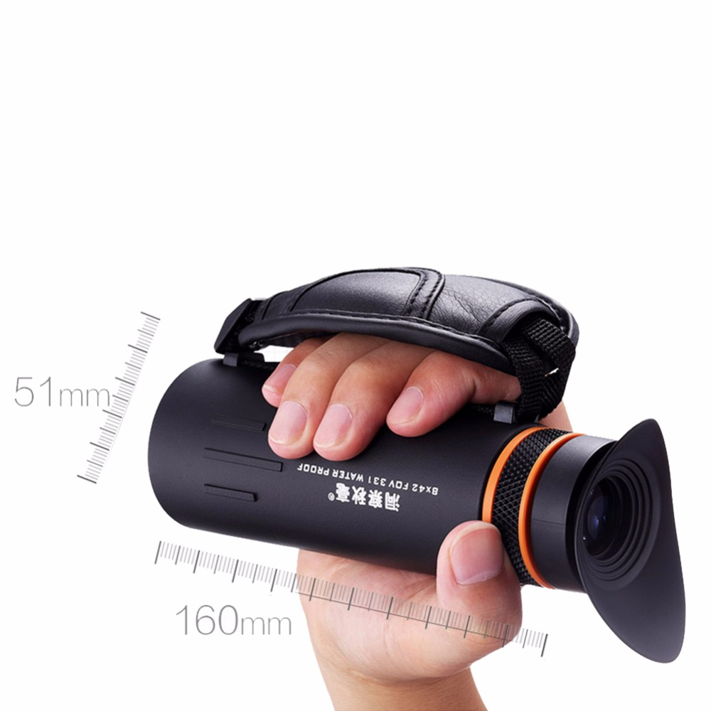 8X42 Waterproof Monocular Spotting Scope HD Telescope Professional Outdoor Traveling Observation Tool for Phone with Lens Cover outdoor telescope spotting scope hd monocular with portable tripod monoculares20 60x60 professional telescope cell phone adapter