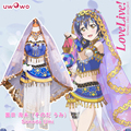 Umi Sonoda Cosplay Love Live! School Idol Project Awakening Arab Dancer ASCOSING Idolized Costume With Veil and Accessories