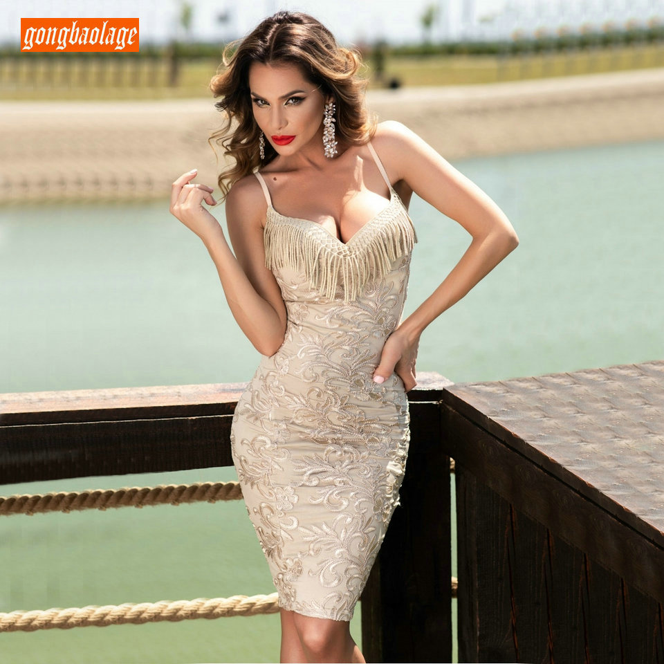 Sexy Beige Slim Fit Mini   Cocktail     Dresses   2019 Chic Party Gowns Sweetheart printing Zipper Pageant Club Guest Formal Prom   Dress