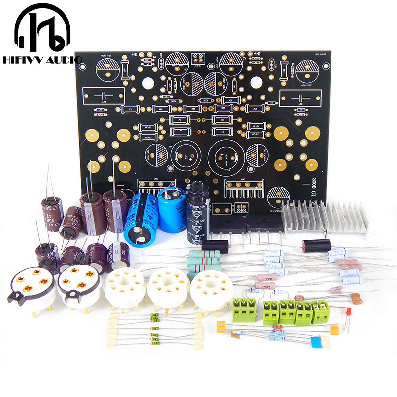 US $50 58 |HIFI tube amplifier 300B tube amp amplifier kits 6SN7+5U4G amp  8W+8W Class A tube amp kits-in Amplifier from Consumer Electronics on