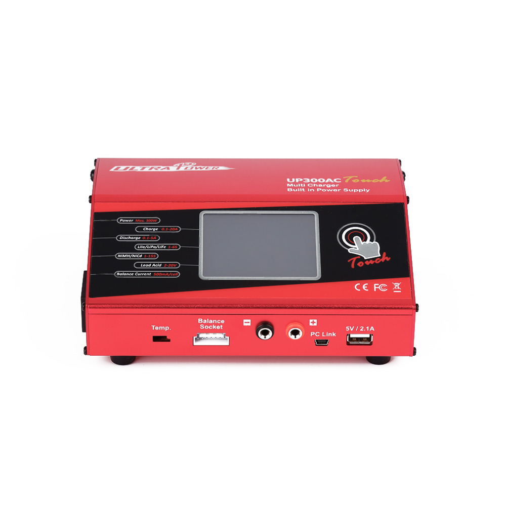 JIMI Ultra Power UP300AC Touch 300W LiIo//LiPo//LiFe//NiMH//NiCD Battery Touch Screen Charger//Discharger
