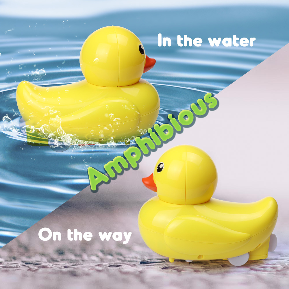 2.4G Wireless Amphibious RC Boat Mini Animal Model Toys Brand New Water Boat With Original Package For Children Birthday Gifts