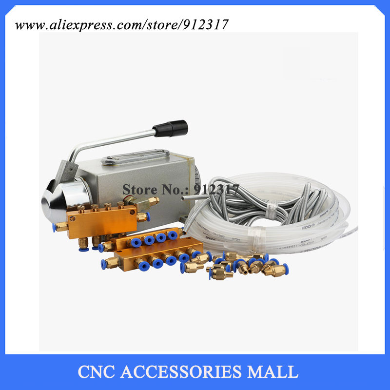 Manual Oil Lubrication Pump For CNC Router Machine Oil Lubrication System