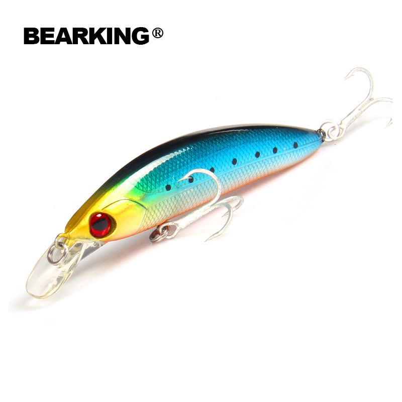 Retail,BEARKING hot model,A+ fishing lures,fishing tackle bait popper,80mm&13g,Crankbait vib hard baits minnow penceil bait bearking professional fishing lures popper 55mm 7 0g hard baits 3d eyes fishing tackle bearking crankbait good hooks