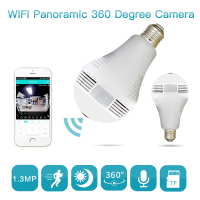 960P Bulb Light Wireless IP Camera Wi Fi FishEye 360 Degrees CCTV 3D VR Camera 1