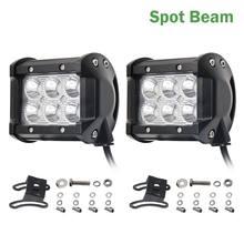 Co-light – pièces de rechange pour tracteur Niva camion Lada, faisceau large 4 pouces 12V lumière Led Bar 6000K 2400Lm puce Led Spot, pièces automobiles