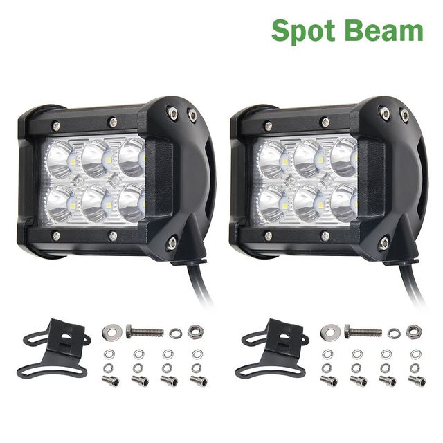 Co light 2pcs flood beam 4inch 12v led light bar 6000k 2400lm led co light 2pcs flood beam 4inch 12v led light bar 6000k 2400lm led chip spot auto aloadofball Images