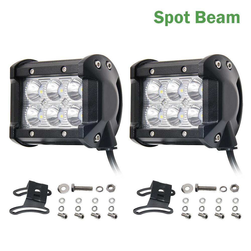 CO LIGHT 2Pcs Flood Beam 4Inch 12V Led Light Bar 6000K 2400Lm Led Chip Spot Auto Replacement Parts For Jeep Bmw Audi Daf Honda