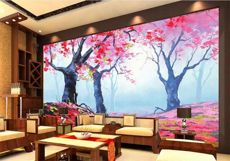 Custom room wallpaper mural Non-Woven photo wallpaper Fantasy Forest Flower painting TV background Bedroom wallpaper for wall 3D  free shipping 3d stereo angel rome column fantasy wallpaper mural custom dining room children room background wallpaper