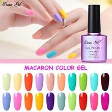 Beau гель 10 мл Макарон Конфеты Цветной Гель-лак для ногтей замочить от УФ светодиодный лампа Гель-лак полуперманентный эмаль Гибридный лак