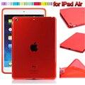 Para new pad air case, magro ultraleve macio limpar tpu case capa para almofada de ar, Almofada de silicone 5 Casos Guia com Stylus Livre