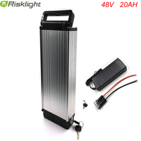 48V 1000W Silver rear rack 48v 20AH electric bike battery 48V lithium battery ebike luggage battery with 54.6V charger