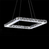Square Crystal LED Pendant Light Fixture Crystal Lighting Led Pendant Lamp For Living Dinning Room Lustres