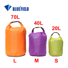 Freeshipping 3pcs/lot Bluefield Outdoor Sports 20L 40L 70L Waterproof Dry Bag for Canoe Kayak Rafting Camping