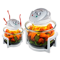 1300W Halogen Oven 12L 220V Turbo Oven 1300W Conventional Infrared Super Wave Oven Electric Fryer 1pc