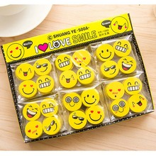 120 PCS Funny Eraser Emoji party favor Kids happy birthday party supply gift for girl boy souvenirs baby shower decoration