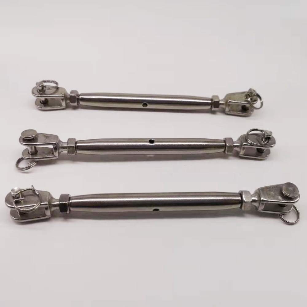 1pcs M10 Stainless Steel 304 Jaw/Jaw Turnbuckle Tensioner