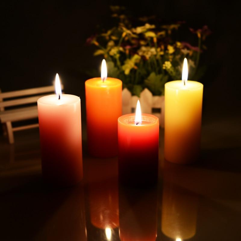 1 unids moda decoraci n grande aromaterapia sin humo velas for Decoracion del hogar con velas