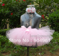 girls pink petti tutu can with a flower headband baby tutu skirt