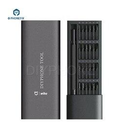 PHONEFIX 25 w 1 magnetyczny zestaw wkrętaków z 24 szt. Wkrętak do iphone'a zestaw narzędzi do naprawy komputera zestaw narzędzi do naprawy elektroniki w Zestawy narzędzi ręcznych od Narzędzia na