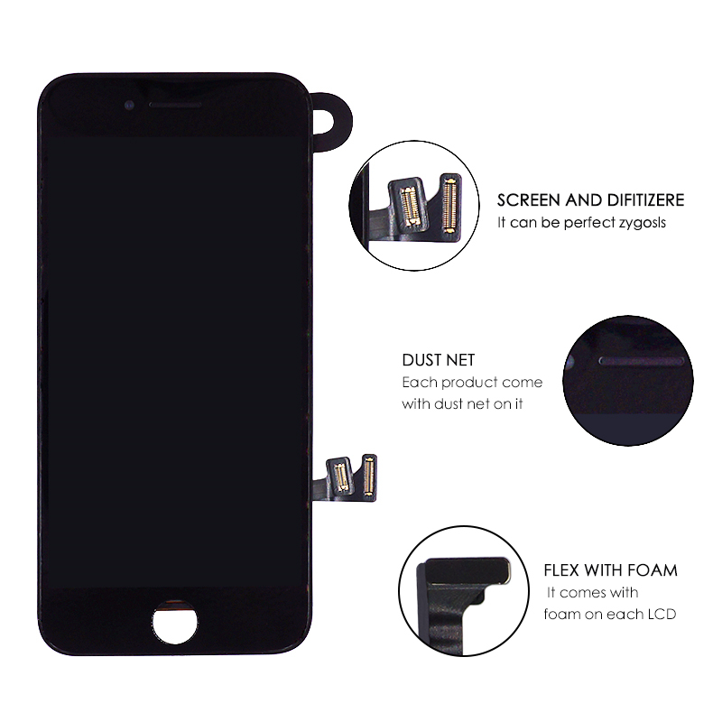 LCD For iPhone 8 Plus Display Full Set Digitizer Assembly 3D Touch Screen Replacement Front Camera Earpiece Speaker 3Gifts in Mobile Phone LCD Screens from Cellphones Telecommunications