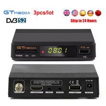 3 pçs/lote GTmedia V7S HD Receptor de Satélite Completo 1080 P DVB-S2 HD powervu youpron Cccam apoio set top box GTmedia V7 HD atualizado