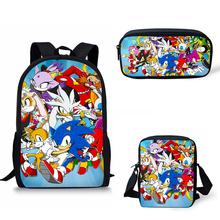 Noisydesigns School Bags sonic the hedgehog Print School Backpack for Girls Boy Orthopedic Schoolbag Backpacks Children Book Bag