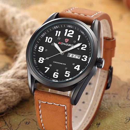 2016 LONGBO Quartz Wrist Watch font b Men b font Clock Famous Top Brand Luxury Military