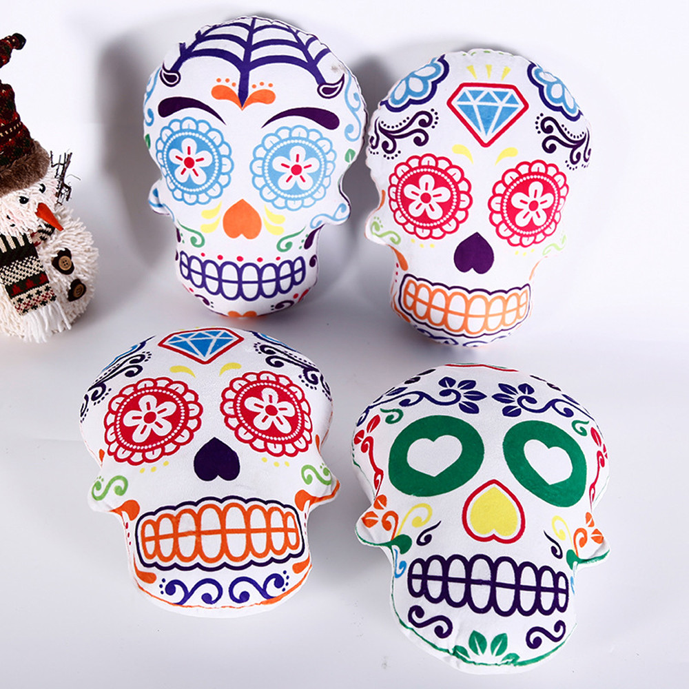 Party-Supplies Sugar Skull Living-Pillow Halloween-Decoration Day-Of-The-Dead Gift Festival