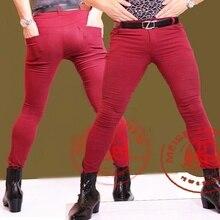 Pantalones Metrosexual con estilo, pantalones vaqueros ajustados para hombres, bolsa para piernas, estilista de pelo, pantalones ajustados de tubo, botas de moda, pantalones ajustados de talla grande