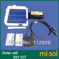 40 pcs 6x6 POLI 4.3 W kit de células solares DIY para o painel solar, caneta de fluxo, ônibus diodo tabulação, regulador