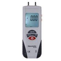LCD Digital Manometer Differential Air Pressure Gauge Manometro 2Psi 13.79Kpa Tester Tools 11 Selectable Scales & Units