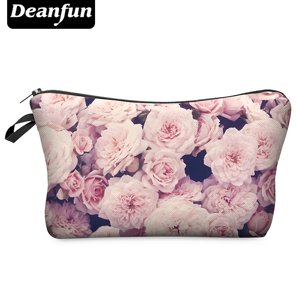 Deanfun 3D Printing Roomy Cosmetic Bag Fashion Women Makeup Bags Waterproof Cosmetics Pouchs For Travel H45(China)