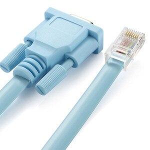 Image 5 - Cat5 Ethernet a Rs232 DB9 puerto COM en serie hembra Cable de alta calidad RJ 45 a DB adaptador de red azul 1,5 m 5Ft Mayitr 0508