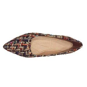 Image 2 - BEYARNE zapatos de marca de moda para mujer, zapatillas femeninas de tacón plano colorido con punta estrecha, náuticos, 2019