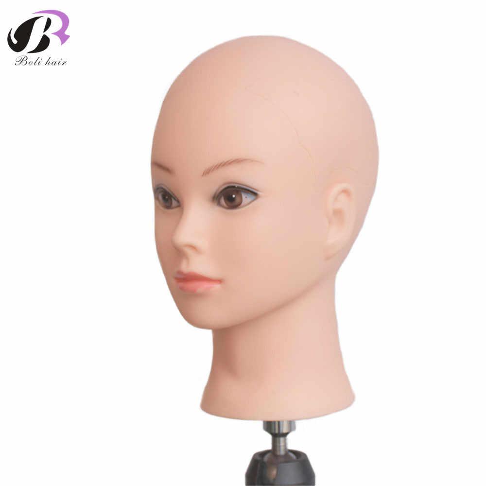 Bolihair мягкий ПВХ женский парик стенд обучение головы манекен для макияж практика лысый манекен головы для парик решений