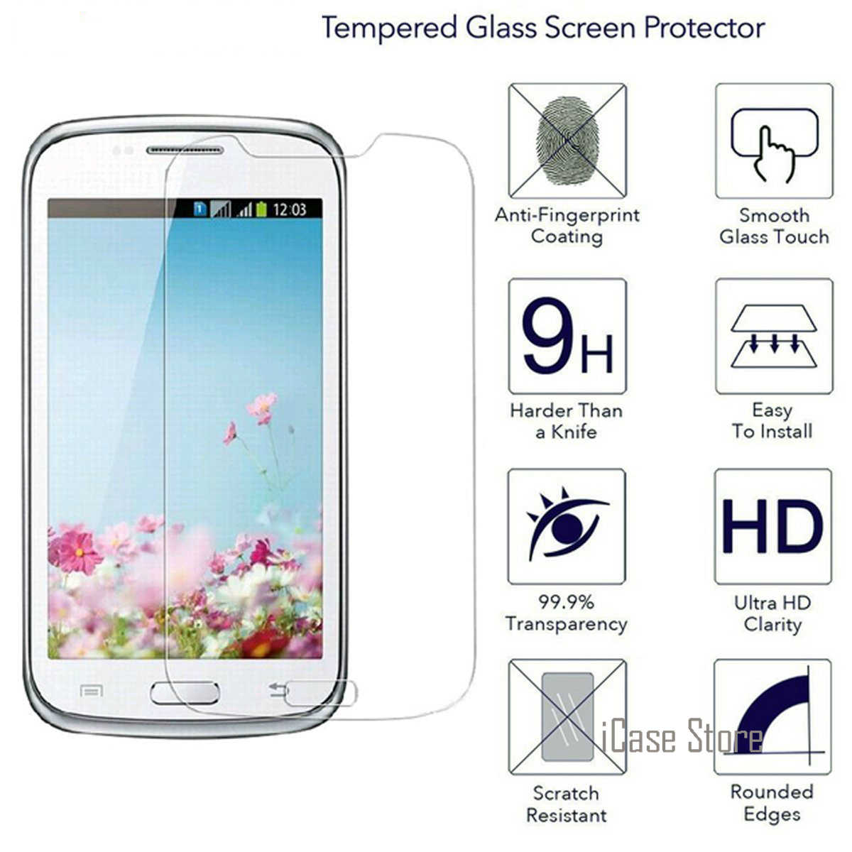 9H Tempered Glass Premium Screen Protector For Samsung Galaxy Core GT-I8260 GT-I8262 Core Duos I8260 I8262 Protective Film