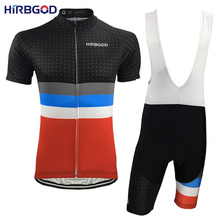 HIRBGOD 2017 Retro Breathable Cycling Jersey Set Men Summer Sport Shirts Bib Shorts Cycling Clothing Short Sleeve Kits 5XL,HI700