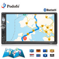 Podofo 2din autoradio 7'' Car Radio Multimedia Player GPS Navigation Camera Bluetooth MP5 Stereo Audio Car Radio Support Camera