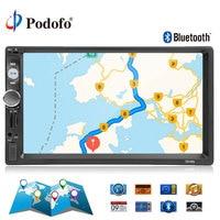 Podofo 2din autoradio 7'' Car Radio Multimedia Player GPS Navigation Camera Bluetooth MP5 Stereo Audio Car Radio Support Camera