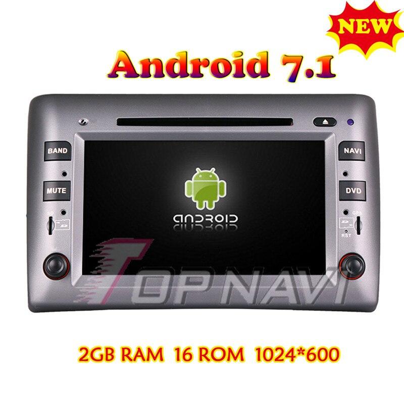 Topnavi Android 7.1 PC De Voiture Lecteur DVD Pour Fiat Stilo 2002 2003 2004 2005 2006 2007 2008 2009 2010 Stéréo GPS de Navigation 2G + 16G