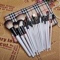 Maquiagem profissional escova cosméticos Facial Make Up Brushes com Roll Up Bag