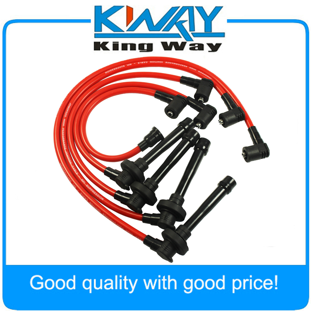 SPARK PLUG WIRE SET FIT FOR HONDA CIVIC DEL SOL 92-00 EG EK EJ D15/D16 SPIRAL CORE title=
