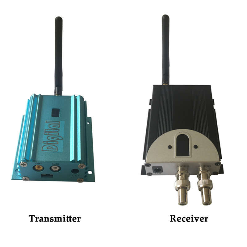 2.4G Long Range Wireless Transmitter And Receiver, 2000mW 12 Channels Wireless Video Sender 1-4km Security Police Government