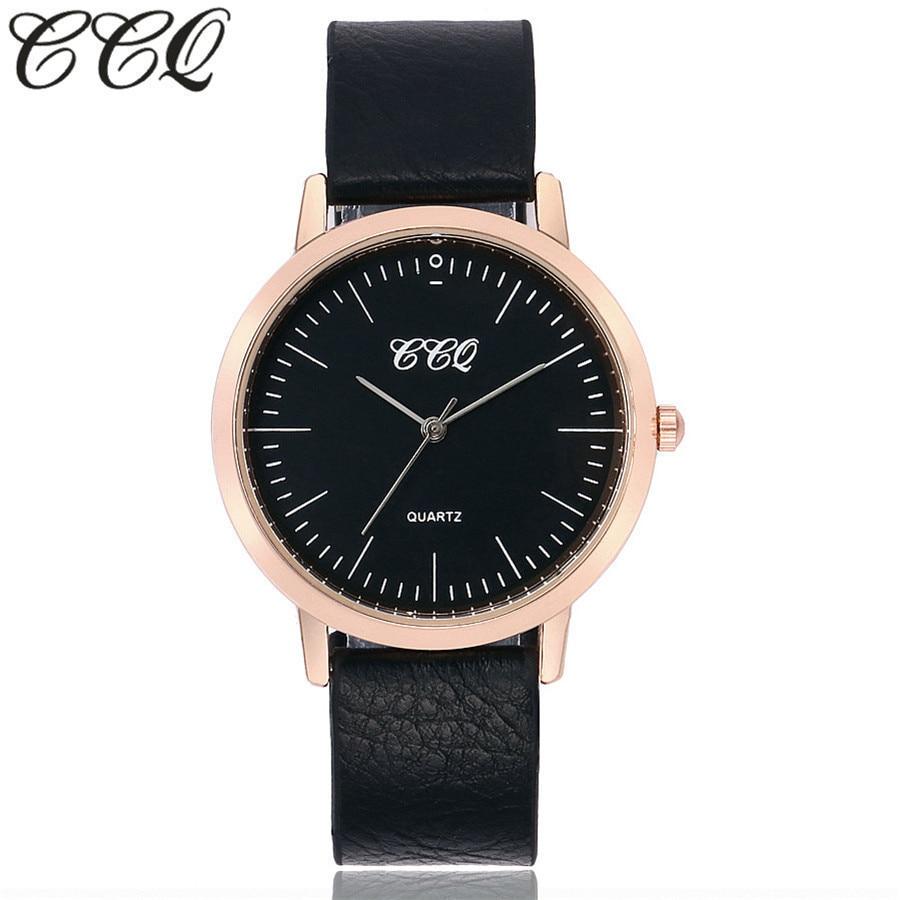 Новинка 2017 года Лидирующий бренд ccq любителей деликатес Часы простой Кварц Классический благородный часы Для женщин наручные ультра тонкий...