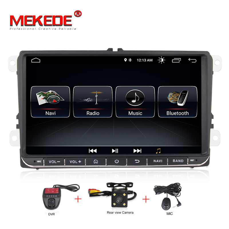 MEKEDE 9inch Touch screen Android8.1 car Audio for  passat b7 b6 golf 5 polo tiguan octavia support GPS navi Ipod BT radio mic(China)