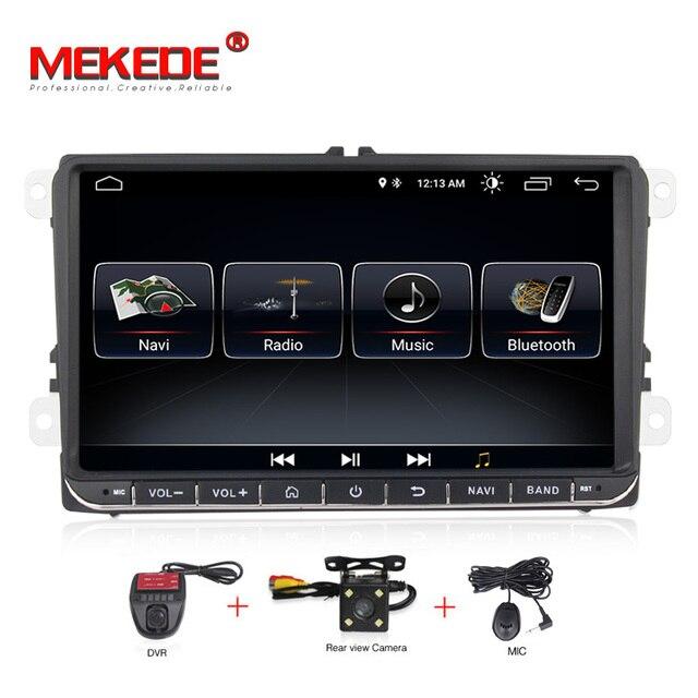 MEKEDE 9 インチのタッチスクリーン Android8.1 用パサート b7 b6 ゴルフ 5 ポロティグアンオクタヴィアサポート GPS ナビ ipod BT ラジオマイク