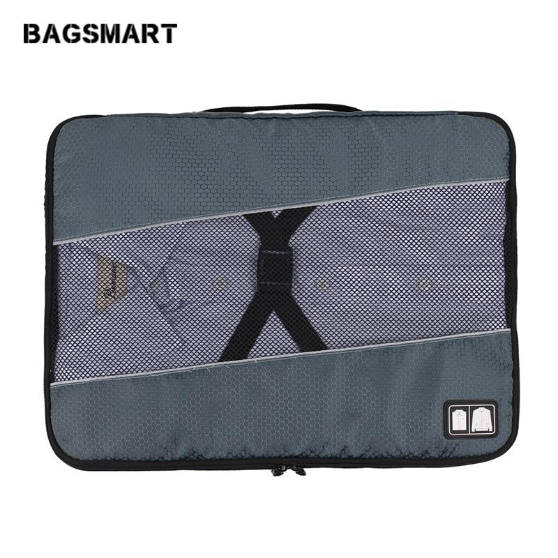 BAGSMART 17-дюймовый мужской нейлоновый багаж дорожные сумки для рубашки легкая упаковка организатор упаковки одежды куб чемодан