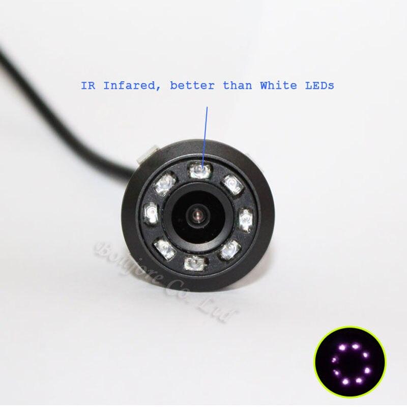 Koorinwoo Универсальный Беспроводной парковочная камера 8 инфракрасный свет ночного видения Резервное копирование заднего вида Cam 4.3 складной ...