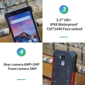 "Image 4 - Ulefone Rüstung X3 5.5 ""HD IP68 Wasserdichte Smartphone 2GB 32GB Android 9,0 Quad Core Gesicht ID Entsperren 3G Handy 5000mAh"